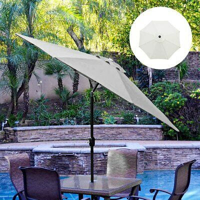 AU46.14 • Buy 10 Umbrella Replacement Canopy 8 Rib Outdoor Patio Top Cover Waterproof STOCK