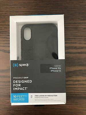 AU11.97 • Buy Speck Presidio Grip Case For Apple IPhone Xs/X - Black Designed For Impact NEW