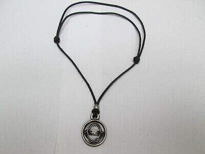 £0.99 • Buy Black Cord Necklace And Metal Pendant