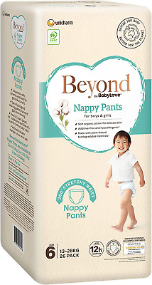 AU92.97 • Buy Beyond By Babylove Eco Nappy Pants, Size 6 (13-28Kg) (3 Packs Of 26 (78 Nappy Pa