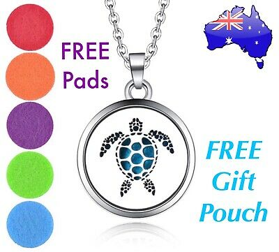 AU13.95 • Buy Turtle Tortoise Aromatherapy Essential Oil Diffuser Locket Pendant Necklace Gift