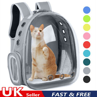 £21.95 • Buy Pet Cat Carrier Bag Space Capsule Puppy Backpack For Small Pet Travel Handbag .