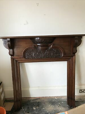 £490 • Buy Victorian C1900 Hand Carved Mahogany Fire Surround