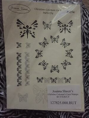 £5 • Buy Joanna Sheen. Christine Coleman Lace Butterfly Rubber Stamps
