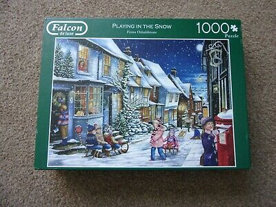 £1.99 • Buy Falcon De Luxe Jigsaw Puzzle - 1000 Pieces -  Playing In The Snow  - Complete