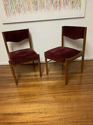 AU130 • Buy Mid Century Parker Chiswell Teak Chairs Retro Vintage