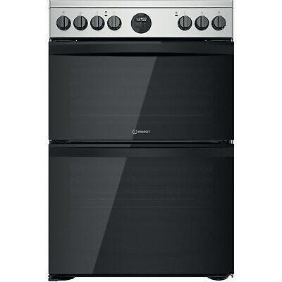 £426.96 • Buy Indesit 60cm Double Oven Electric Cooker - Stainless Steel