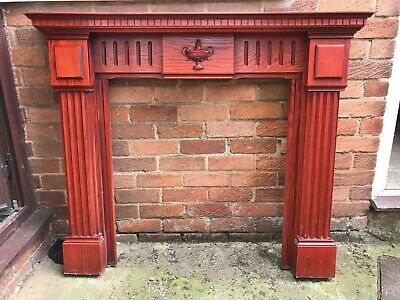 £10 • Buy Wooden Fire Surround, Mahogany Stained Used