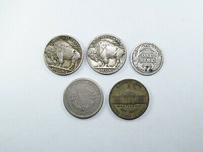 AU15 • Buy 5 X  American Coins From 1902 To 1942