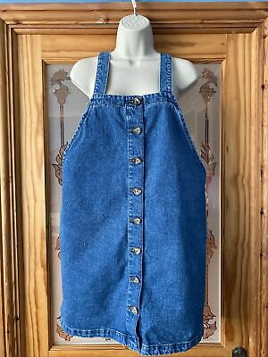£4.99 • Buy NEW LOOK Denim Pinafore Dress Button Front Size 14