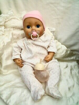 £12.50 • Buy Zapf Creation Baby Annabell Doll Interactive Cries Tears Bottle & Dummy 2016