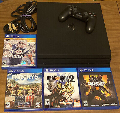 AU444.47 • Buy PlayStation 4 PS4 Pro 1TB Console Bundle + 4 Games 1 Controller + Wires VG Cond