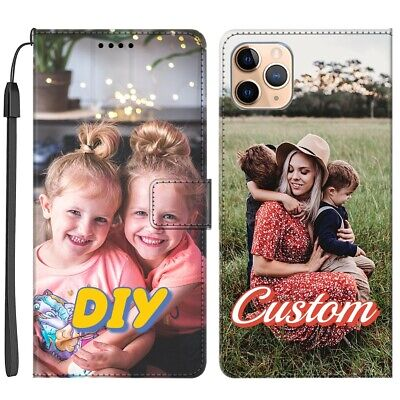 AU22.88 • Buy Customise Leather Flip Wallet Phone Case Cover Personalised Image Photo Picture