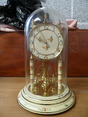 £30 • Buy Lovely Large Vintage Kundo  400 Day Anniversary Clock, Original Glass Dome.