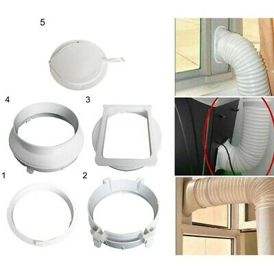 AU13.09 • Buy Portable Air-Conditioner Casement Exhaust Duct-Pipe Hose Interface-Connector