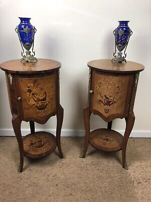 £295 • Buy Stunning Pair Of French Bedside Table Drum Cabinet Nightstands