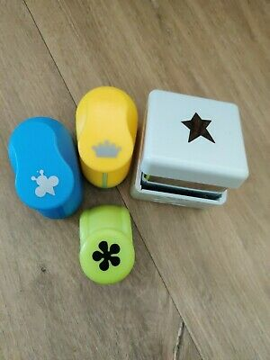 £2 • Buy Paper Punch Set Bumble Bee Crown Star Flower