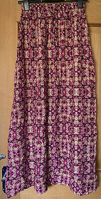 £1.95 • Buy New Look Pink Tropical Print Maxi Skirt Size 6