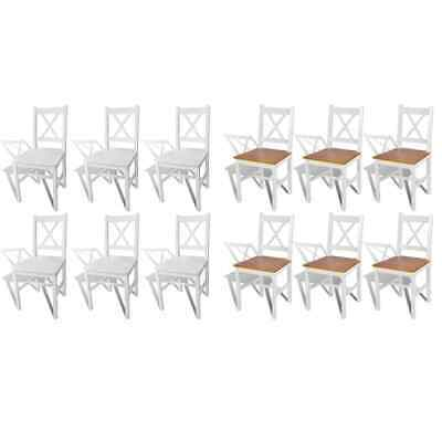 AU153 • Buy Pine Wood 2/4/6x Dining Chairs Kitchen Dinner Seating Indoor Decor Seat Sets AU