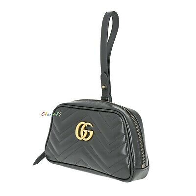 AU1144.86 • Buy New Authentic Gucci GG Marmont Matelasse Leather Clutch/ Pouch
