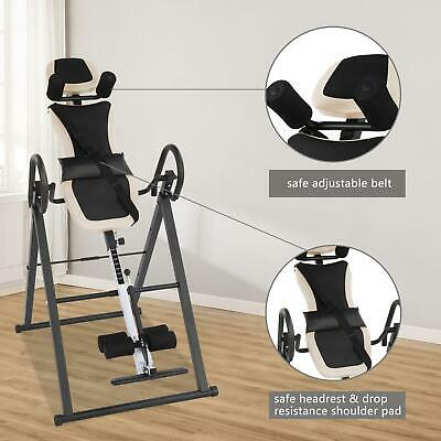 £75.99 • Buy Adjustable Gravity Inversion Table Back Neck Therapy Equipment Fitness Fodable