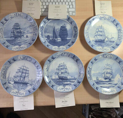£100 • Buy Compton & Woodhouse Queens Ware Great Racing Clippers Collection X 12 Plates