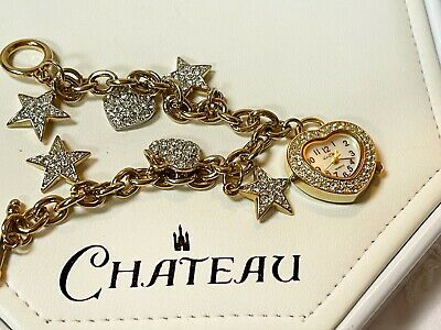 £22.99 • Buy A Lovely  Ladies Goldtone Charm Le Chat Bracelet Watch