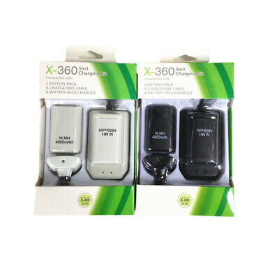 AU19.73 • Buy For Xbox 360 Battery + Charger Cable USB Pack Wireless Rechargeable Controller
