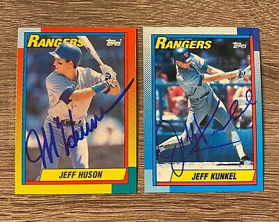 AU1.32 • Buy JEFF HUSON Autograph 1990 TOPPS TRADED Signed Card RANGERS 90