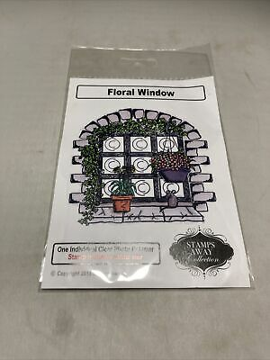 £2 • Buy Stamp Away Clear Stamps Floral Window- New