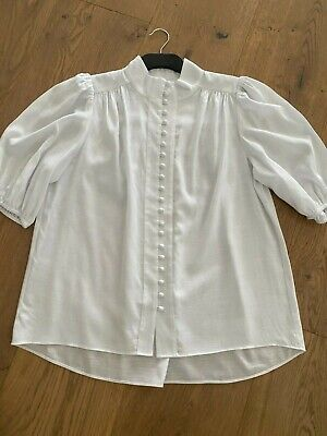 AU59 • Buy Witchery High Neck Blouse (white) - Size 12 - BNWOT **Current Style**