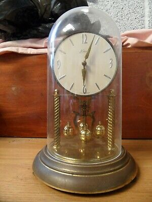 £25 • Buy Vintage Large Kern 400 Day Anniversary Clock, Glass Dome. Repair/Service
