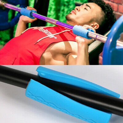 AU25.59 • Buy 2Pair Thick Fat Barbell Anti-slip Grips Home Gym Arm Wrap Weightlifting Support