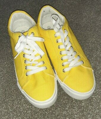 £0.99 • Buy Ladies Yellow Trainers Size 7. Wide Fit. Simply Be.