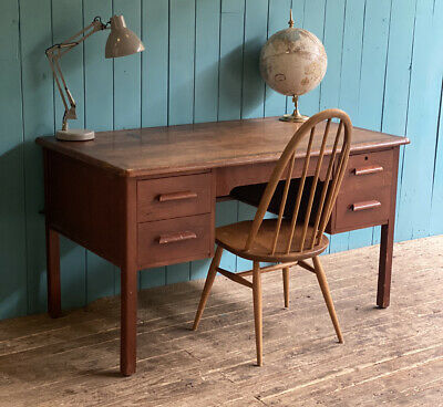 £195 • Buy Abbess Oak Mid Century Writing Desk Retro Home Office DELIVERY*