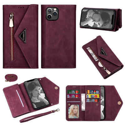 AU8.12 • Buy For IPhone 13 12 11 Pro Max XS 6S 7 8 Plus Wallet Card Holder Leather Case Cover