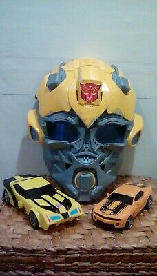 £8 • Buy Transformers Bumblebee Voice Changer Mask With Sound Effects & Transformers Cars
