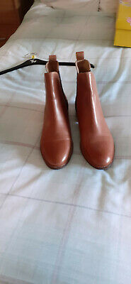 £45 • Buy Joules Tan Ankle Boots Size 8 With Pattern Back BNWT