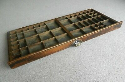 £45 • Buy Antique Hamilton Wooden Letterpress Printers Tray Drawer Brass Joiners & Handle