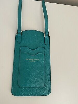 £38 • Buy Aspinal Of London Leather Phone Case Chalkhill Blue Pebble (Worn Once)