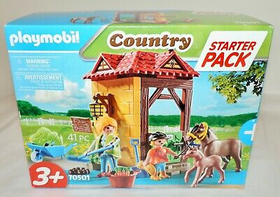 £11.99 • Buy NEW Playmobil (70501) Starter Pack HORSE FARM W/Horse, Foal & Accessories