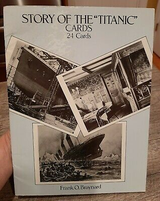 AU9.43 • Buy Vintage Story Of The Titanic 24 Photo Post Cards 1988 Dover Publications