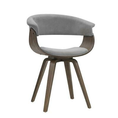 AU147 • Buy Artiss Dining Chairs Bentwood Chair Kitchen Velvet Fabric Timber Wood Retro Grey