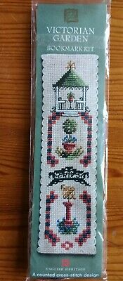 £4 • Buy English Heritage Counted Cross Stitch Bookmark Kit Victorian Garden
