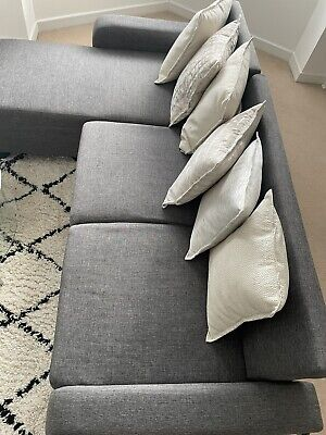 £175 • Buy Laura James Corner Sofa Right/Left Hand Side With 3 Seater - Grey