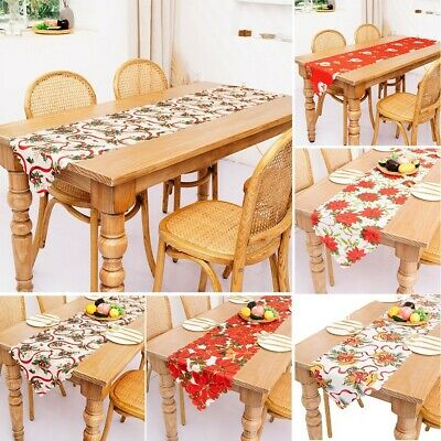 AU11.29 • Buy Christmas Table Runner Tablecloth For Home Dining Room Kitchen New Year Decor