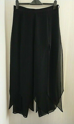 £2.99 • Buy Wide Leg Trousers With Overlay Skirt Black Size 16