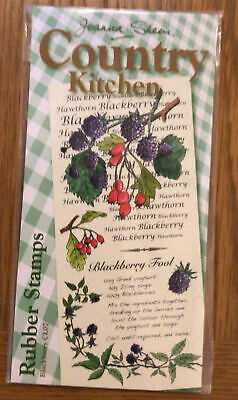 £0.99 • Buy Joanna Sheen Rubber Stamp - Country Kitchen - Blackberry