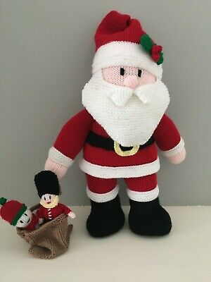 £15 • Buy Hand Knitted Large Santa Father Christmas With Toy Sack