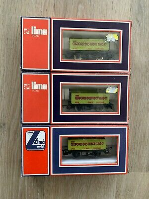 £4.99 • Buy 3 X LIMA 30/5614 OO OXFORD DISTRICT GAS Co OPEN WAGONS – GWR OXFORD No 18-boxed